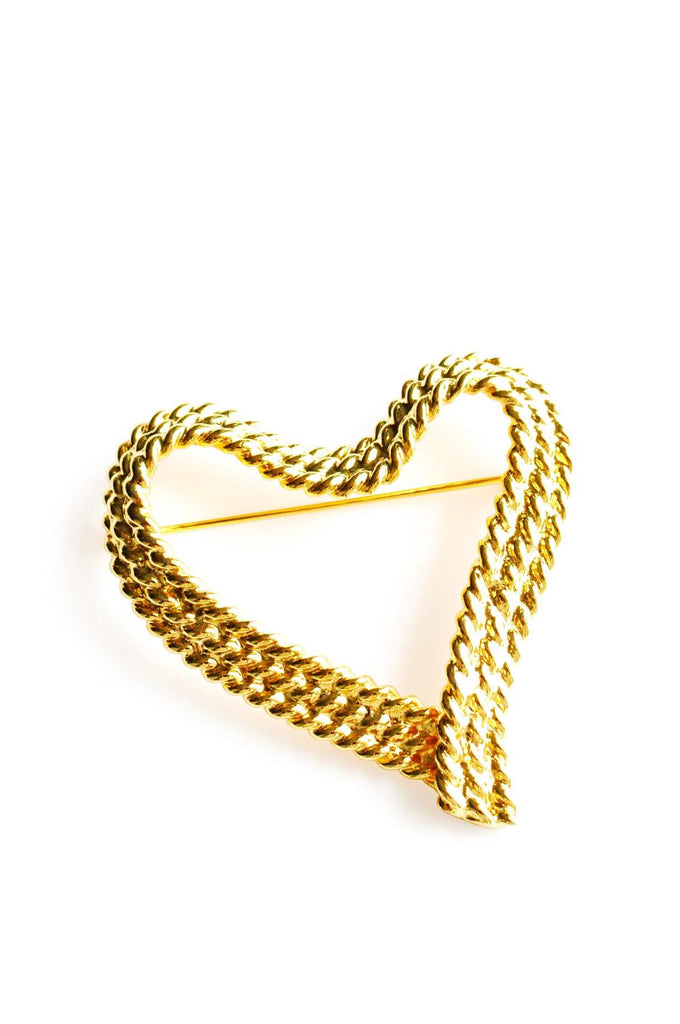 Rope Heart Brooch