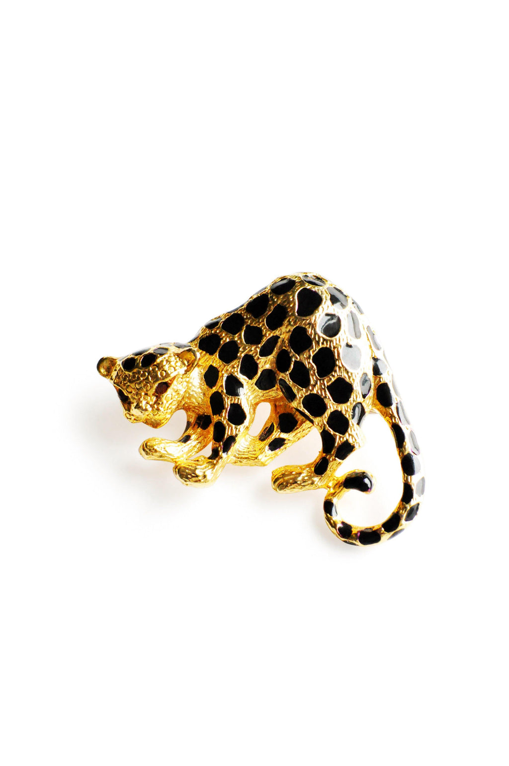 Small Gold Panther Brooch