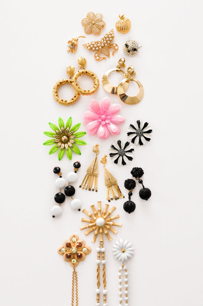 Pink Flower Statement Brooch