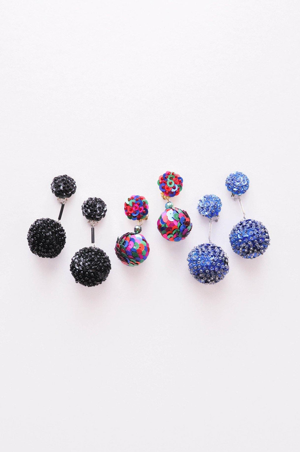 Sequin Bon Bon Clip-on Earrings