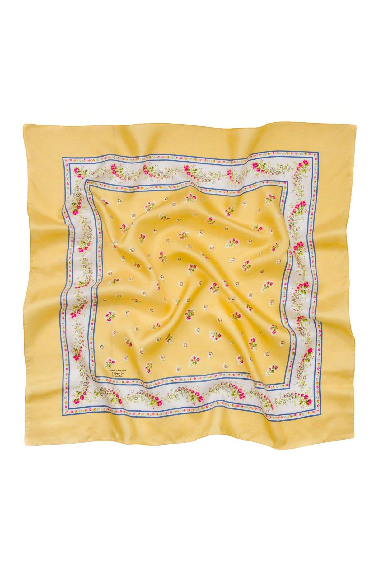 Vintage Liberty of London Yellow Floral Scarf from Sweet and Spark