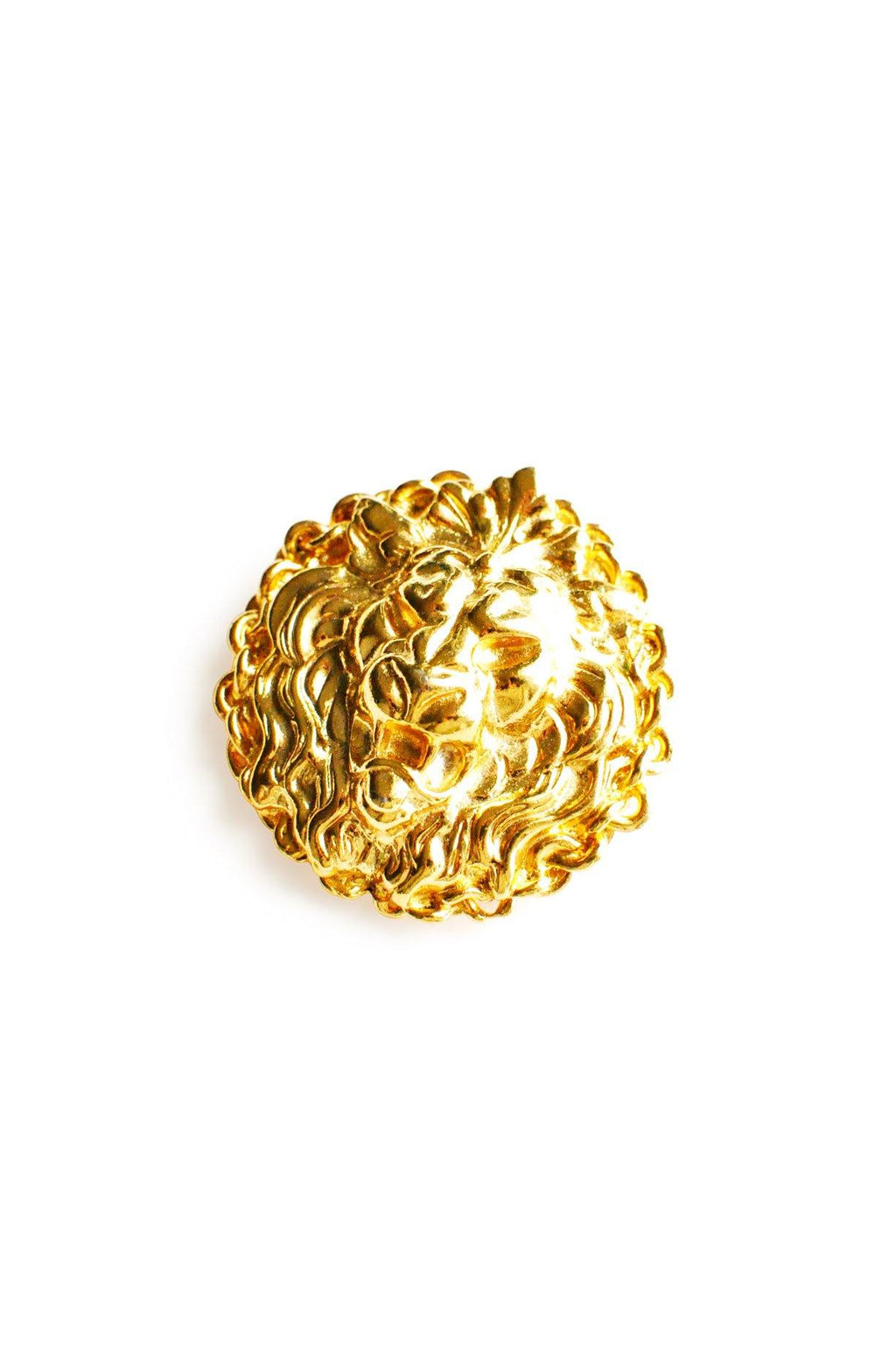 Gold Lion Brooch