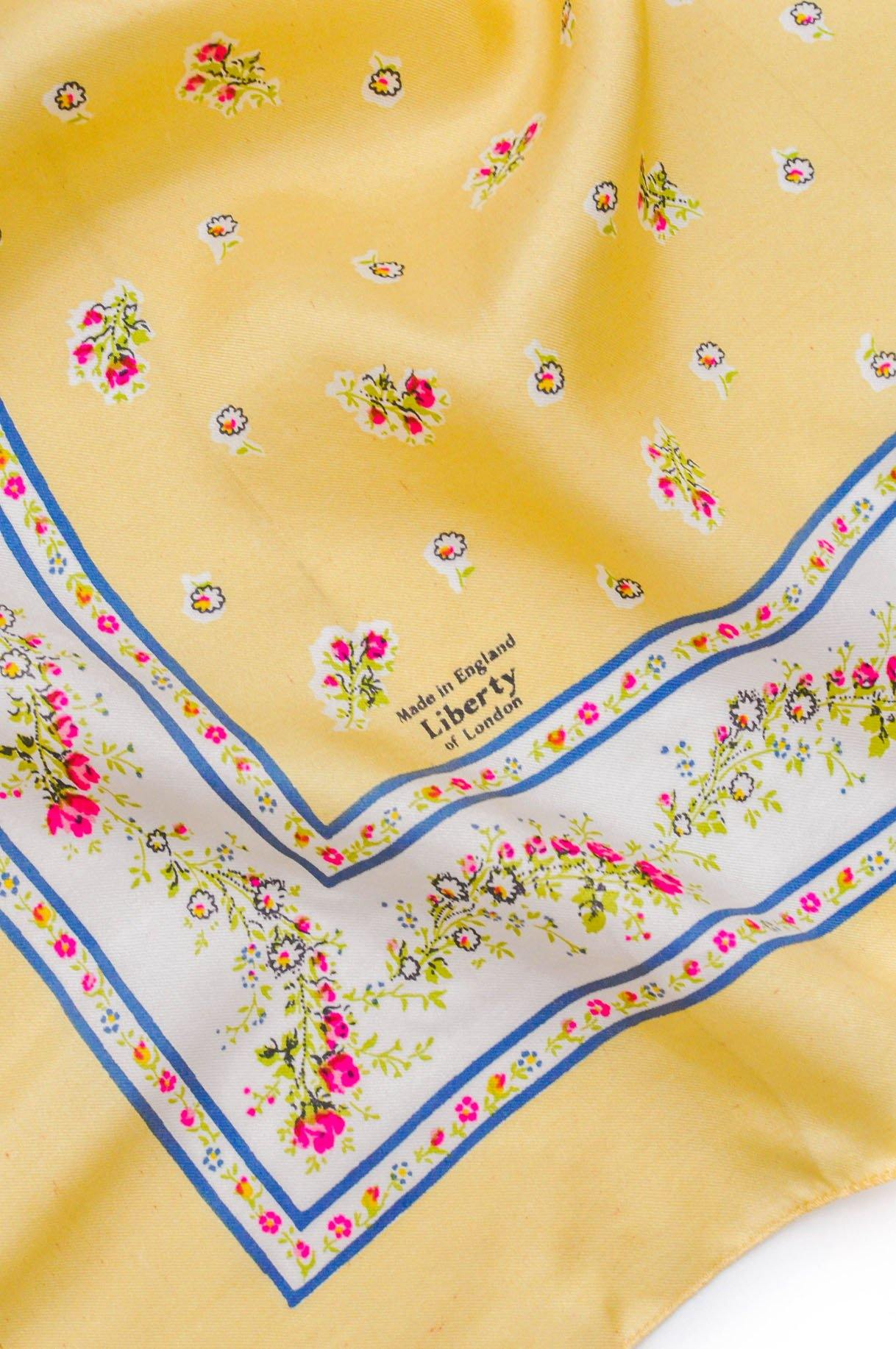 Liberty of London Yellow Floral Scarf