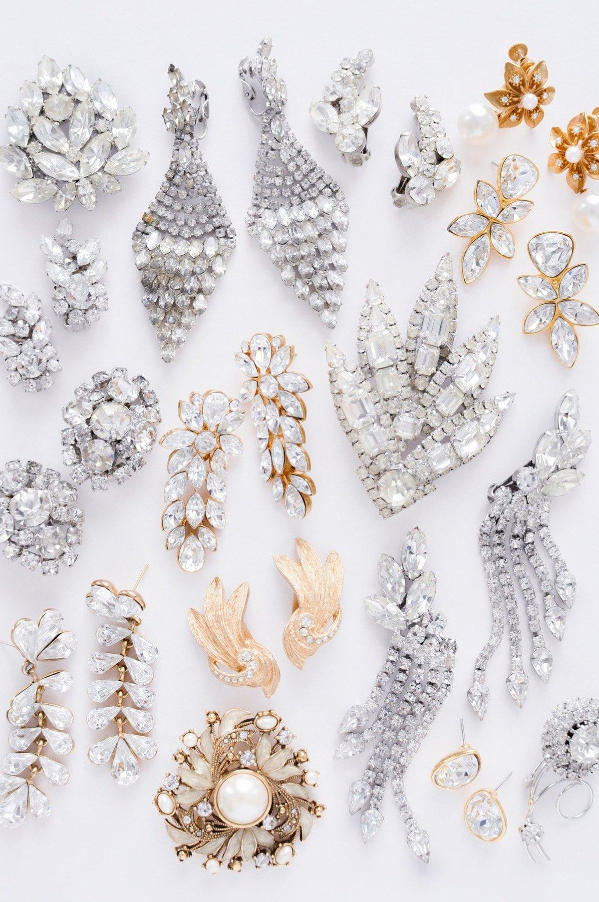 Vintage wedding jewelry from Sweet & Spark.