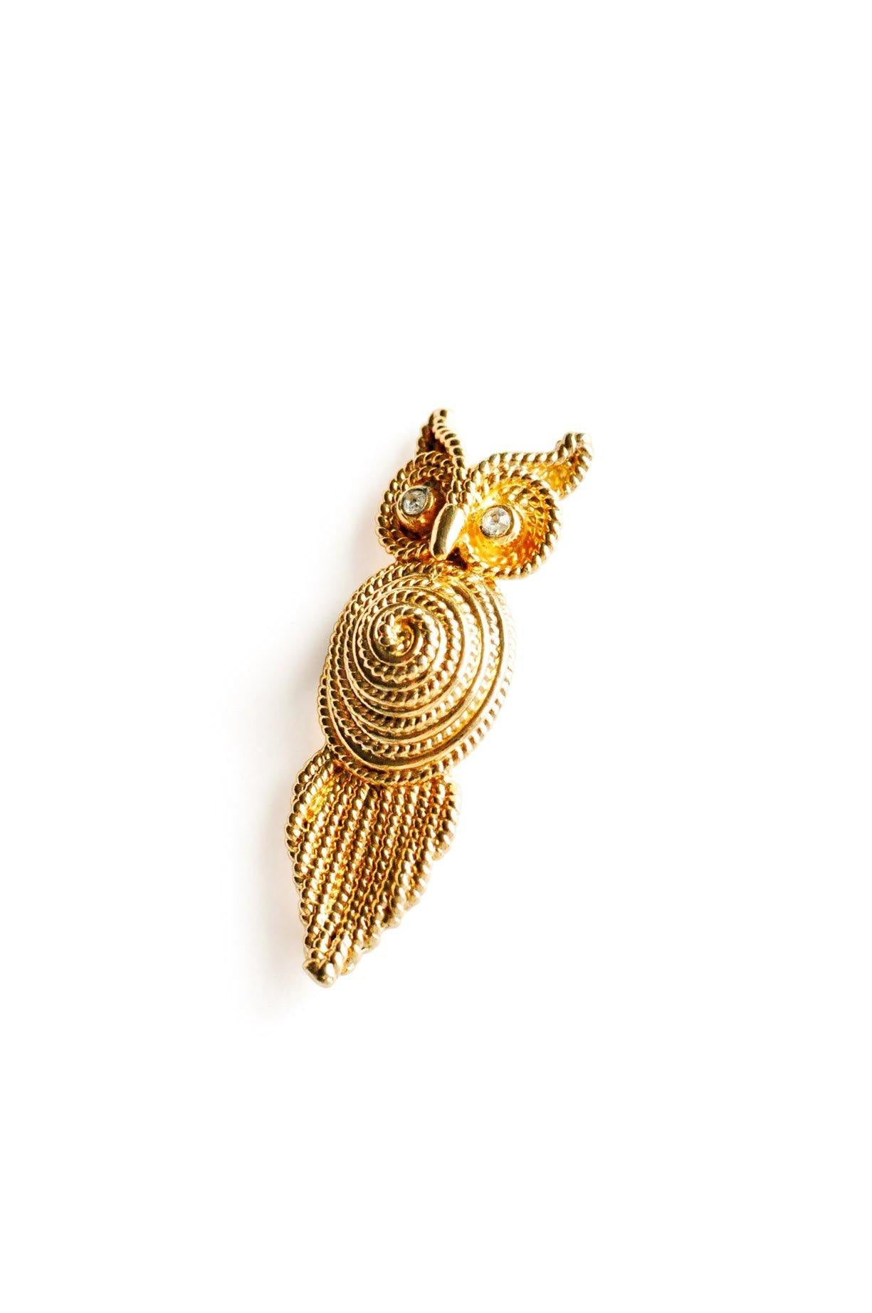 Rope Owl Brooch