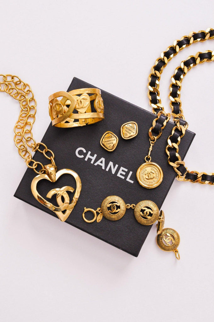 Chanel Heart Statement Necklace