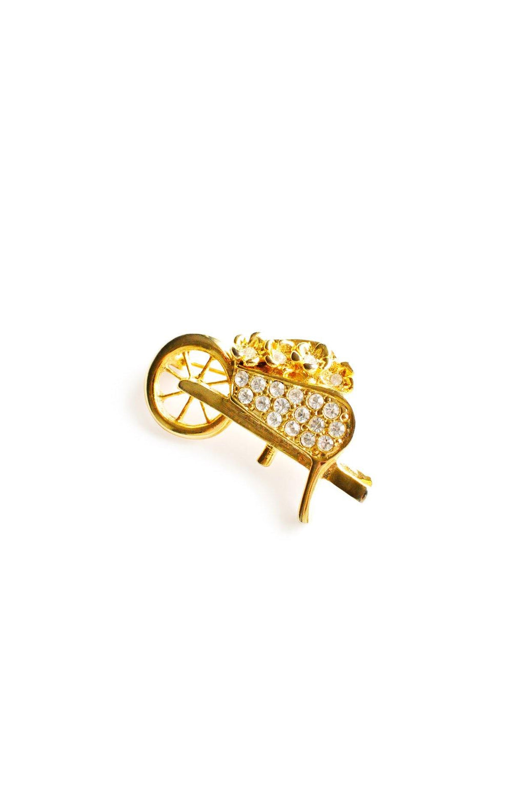 Wheelbarrow Brooch