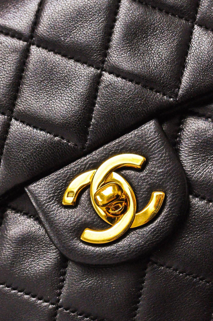 Chanel Mini Black Lambskin Flap Bag