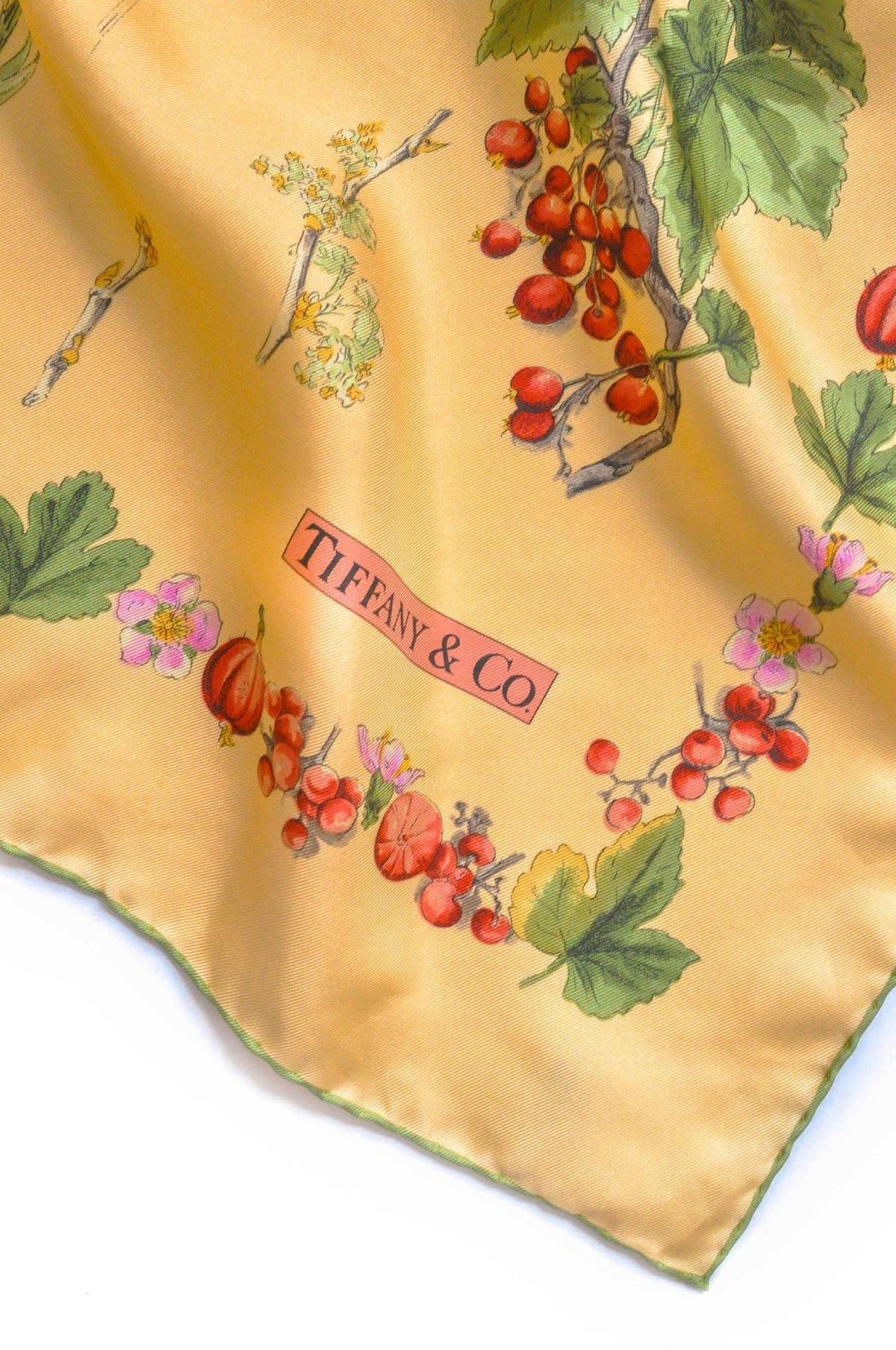 Vintage Tiffany & Co. Peach Florals Scarf from Sweet and Spark.