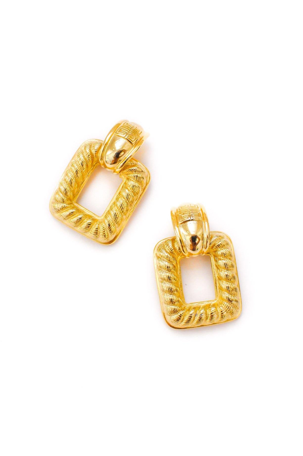 Vintage Givenchy Statement Door Knocker Earrings from Sweet & Spark.