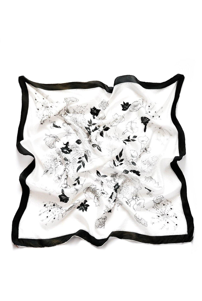 Black & White Large Square Scarf