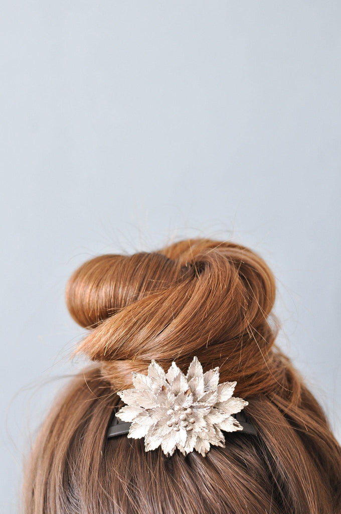 Gold Leaf Bun Pin