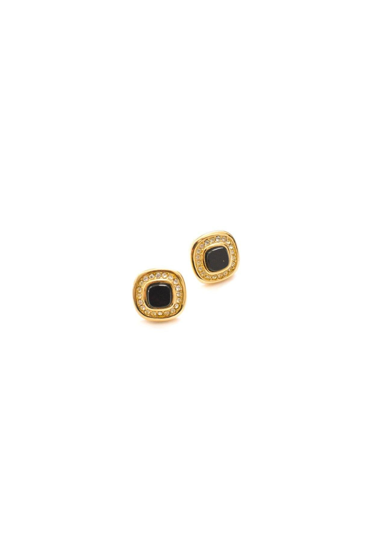 Christian Dior Square Pierced Earrings