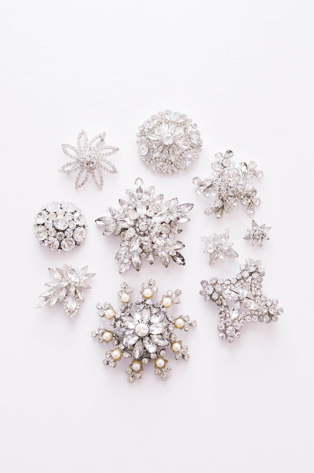 Statement Rhinestone Brooch