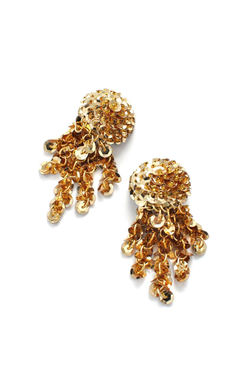 Sequin Fringe Clip-on Earrings