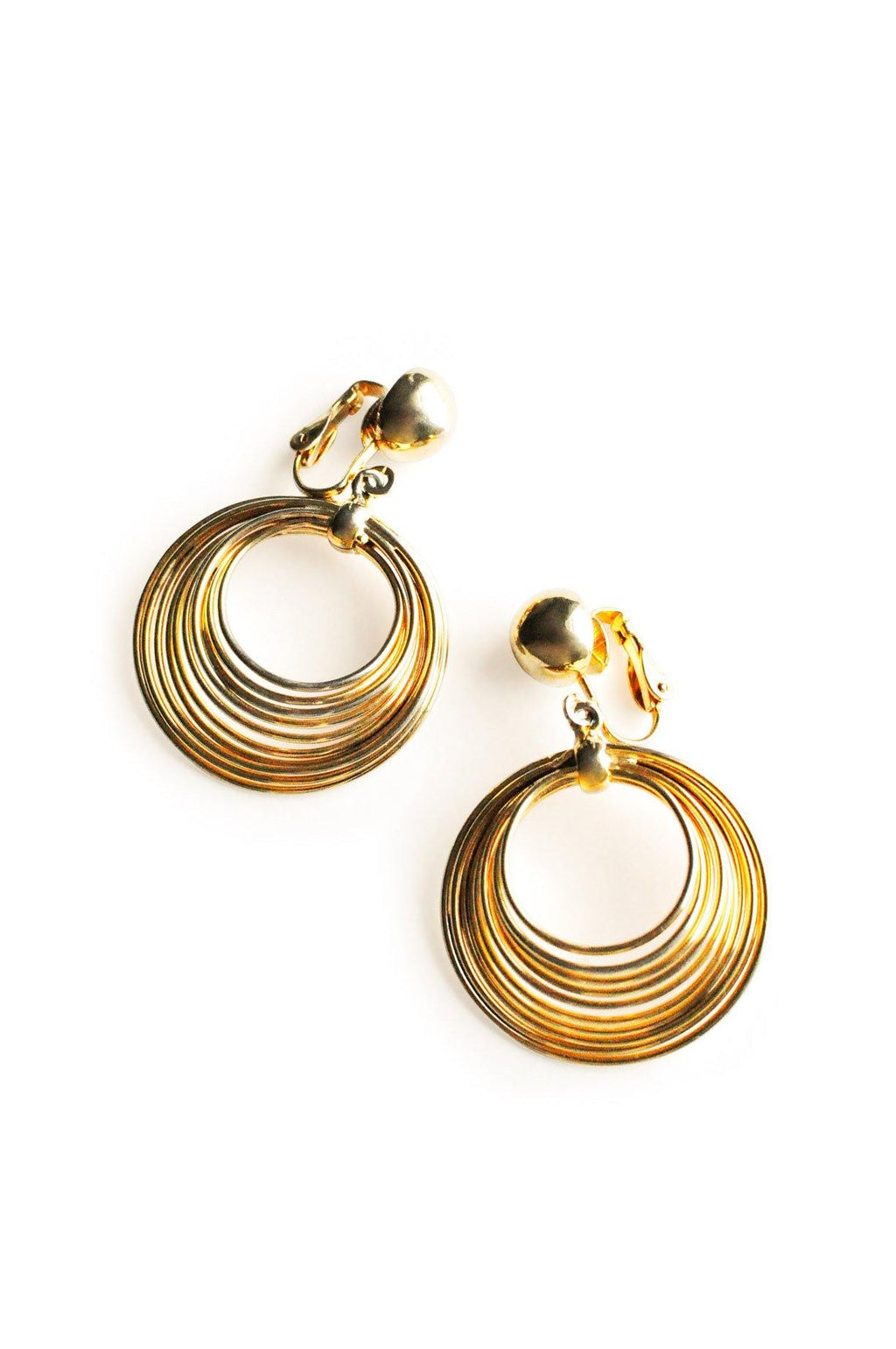 Wire Hoop Clip-on Earrings