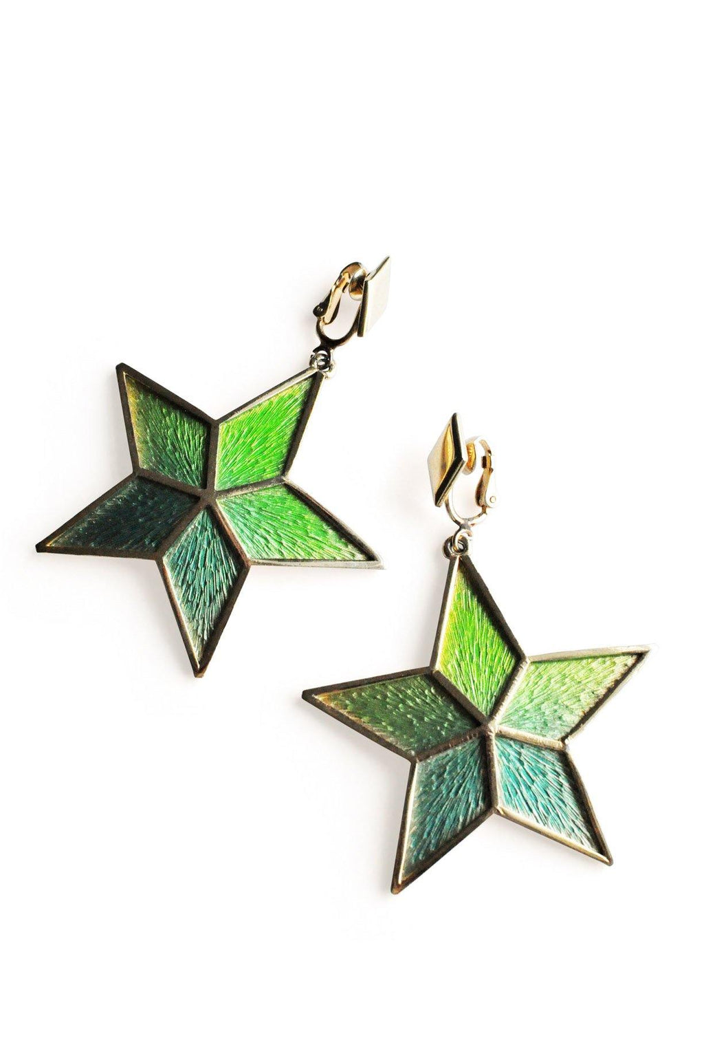 Napier Gold Star Clip-on Earrings
