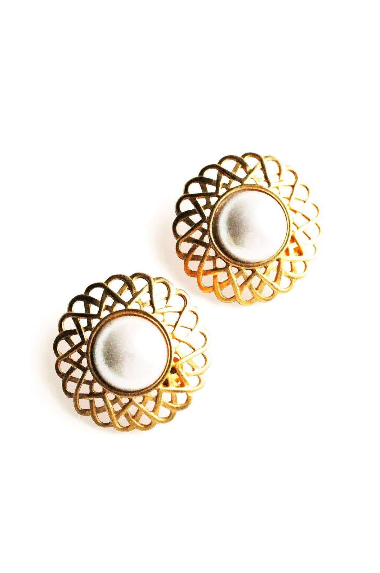 Pearl Statement Clip-on Earrings from Sweet & Spark