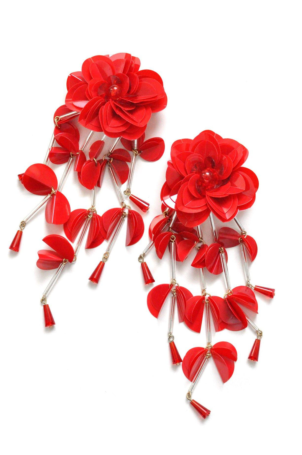 Red Statement Clip-on Earrings