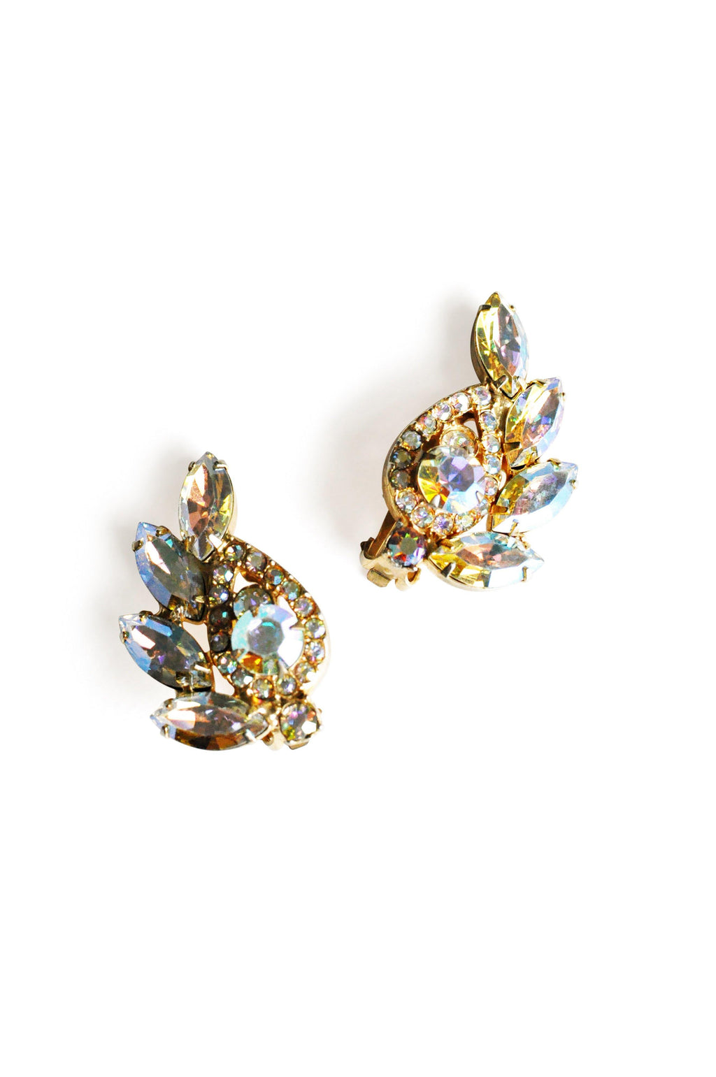 AB Stone Crawler Clip-On Earrings