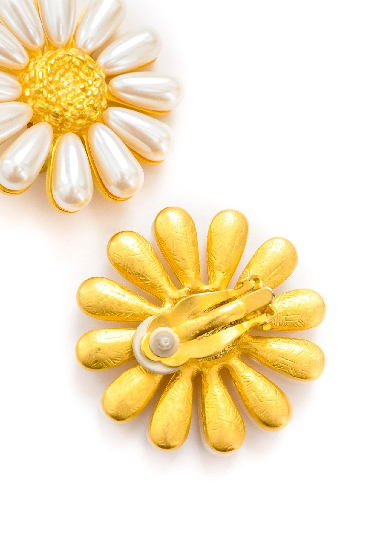 Givenchy Sunflower Clip-on Earrings