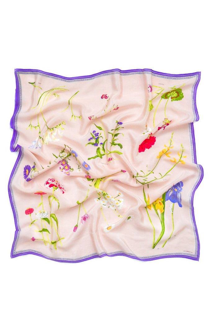 Colorful Floral Square Scarf