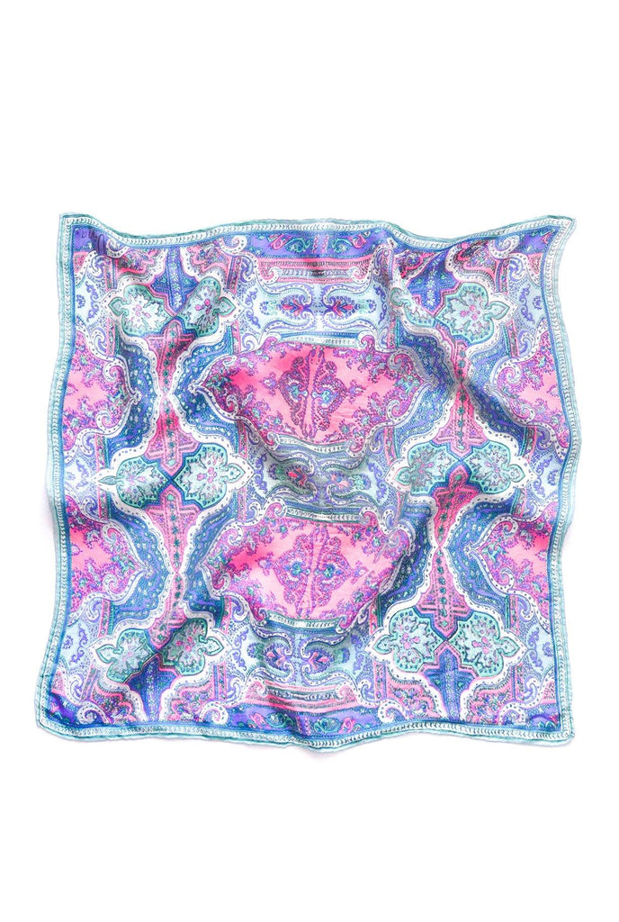 Pastel Paisley Square Scarf