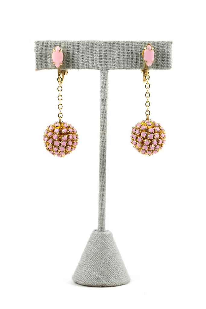 50's__Vintage__Ball Drop Clip-On Earrings