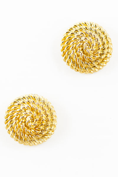 70's__Monet__Rope Circle Earrings