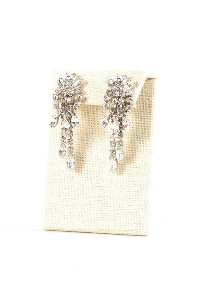 60's__Weiss__Edgy Rhinestone Fringe Clips