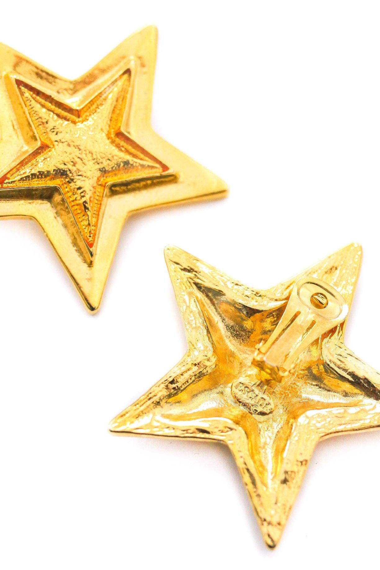 Escada Statement Star Clip-on Earrings