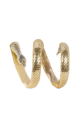 70's__Whiting Davis__Snake Arm Cuff