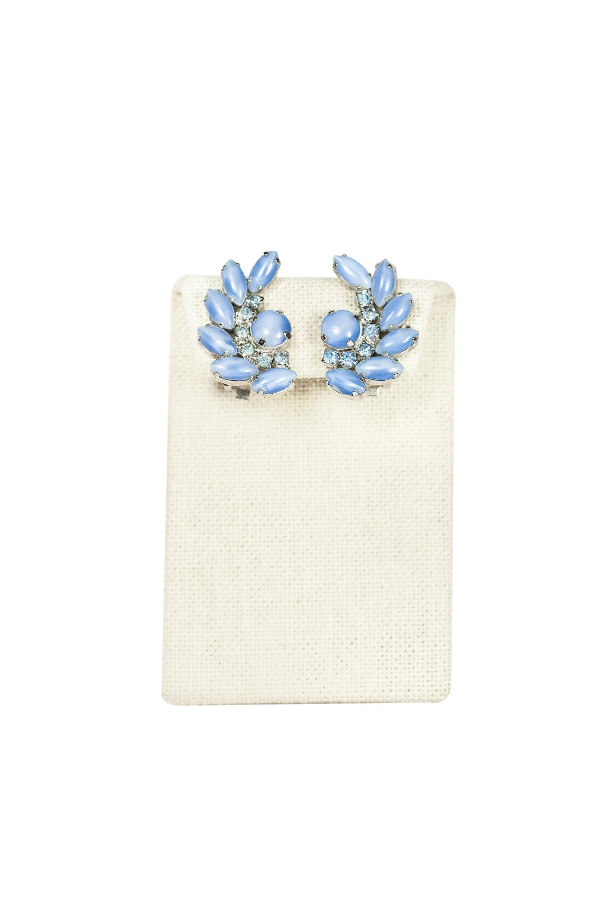 50's__Vintage__Light Blue Ear Climber Clips