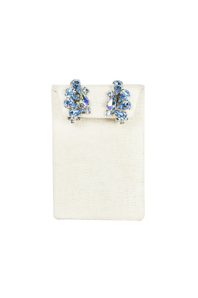 50's__Weiss__Light Blue Ear Climber Clips