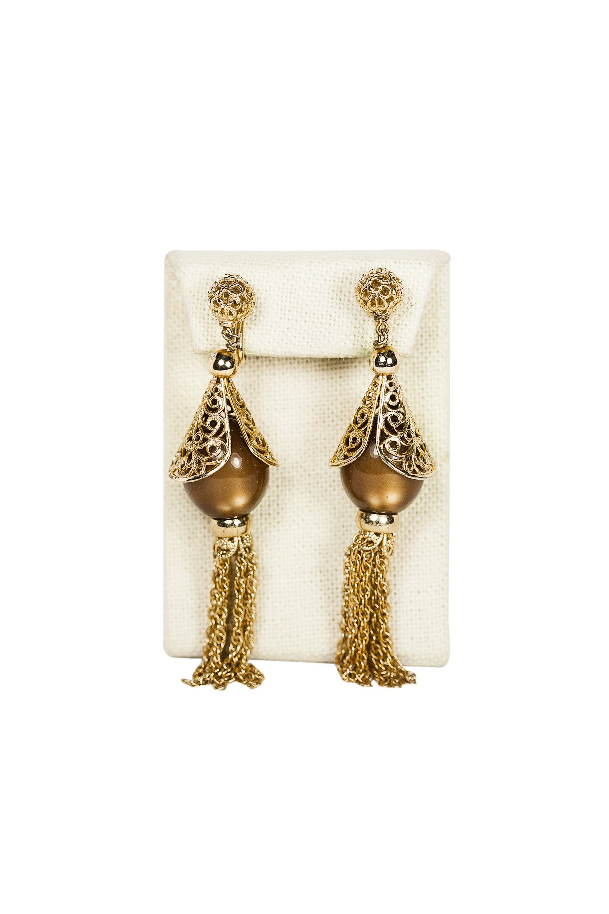 60's__Napier__Tassel Statement Clips