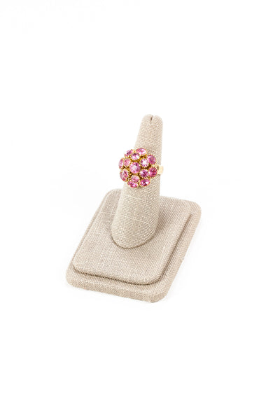 50's__Sarah Coventry__Pink Rhinestone Ring