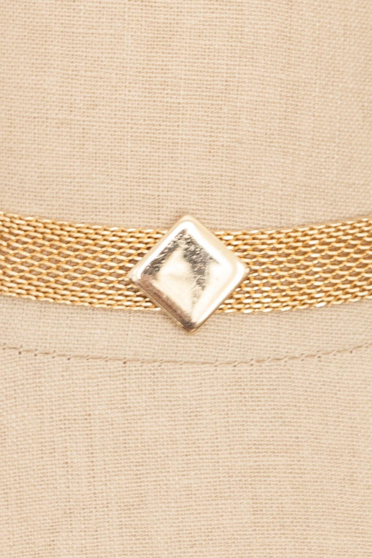 70's__Park Lane__Diamond Mesh Choker Necklace