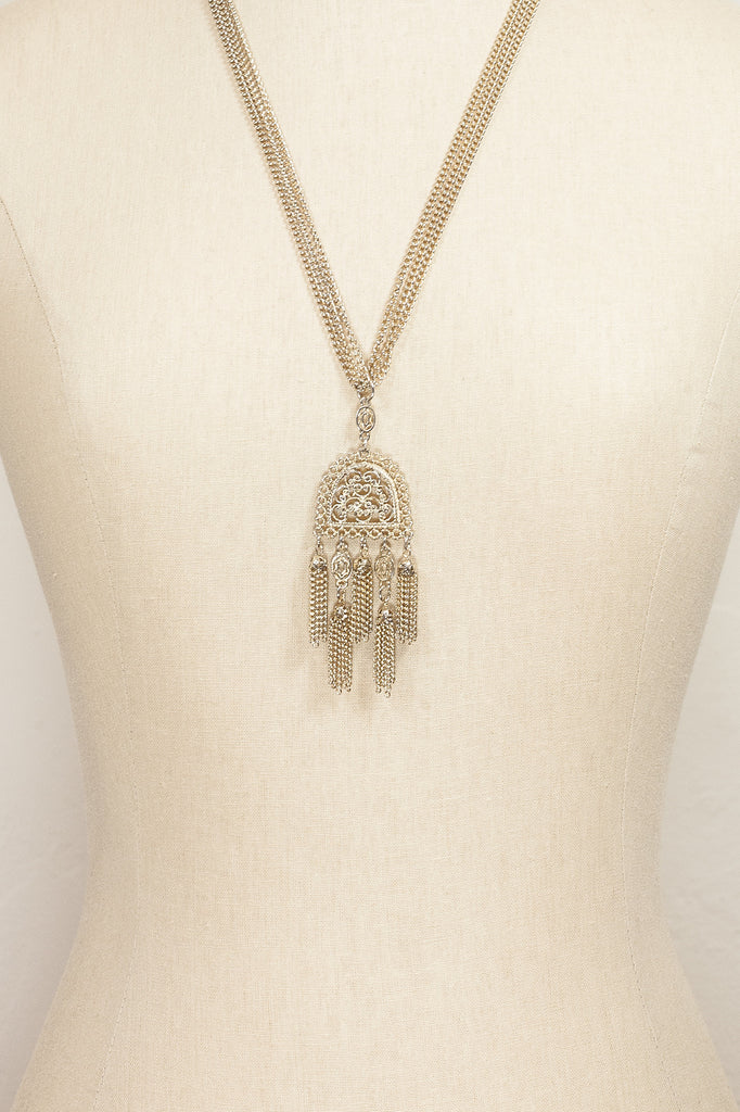 70's__Vintage__Multi Tassel Necklace