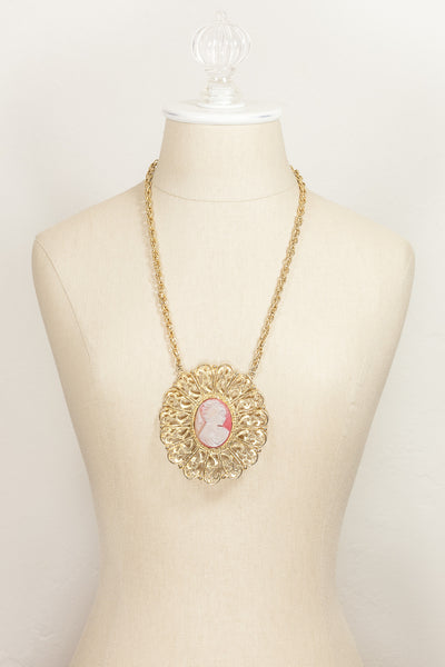 60's__Vintage__Cameo Statement Necklace
