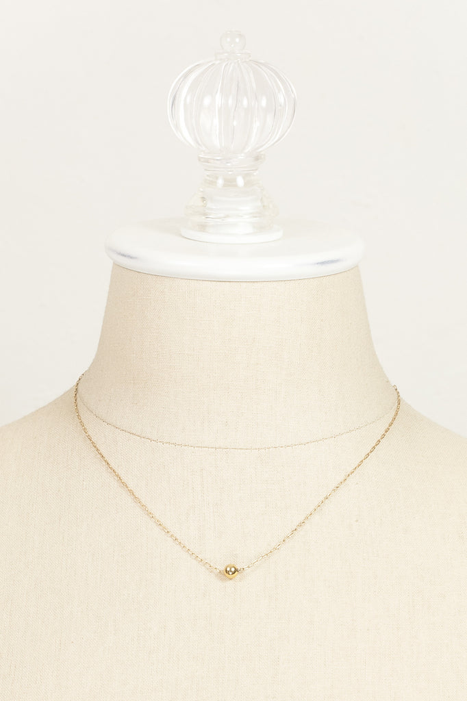 70's__Van Dell__Dainty Ball Necklace
