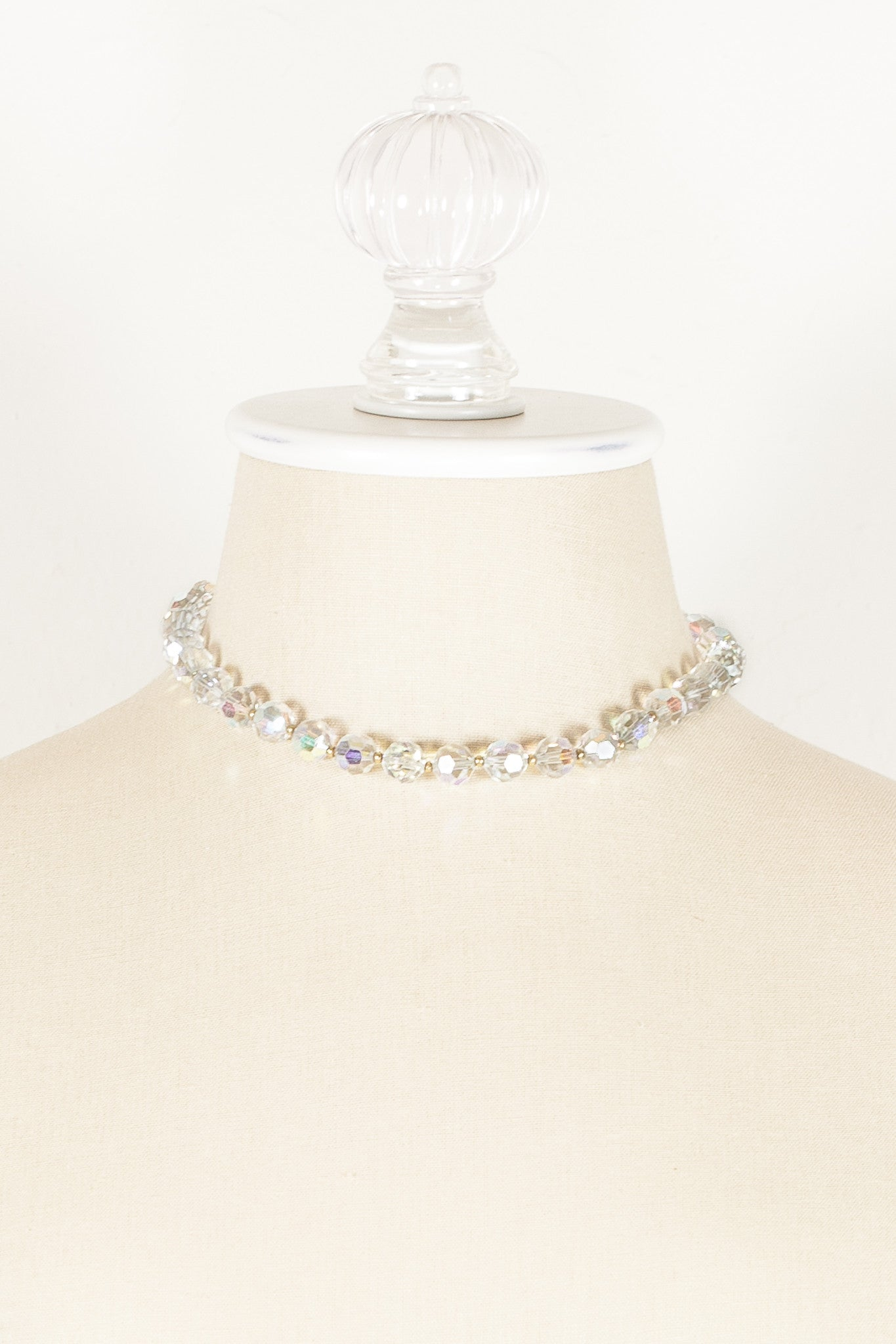 50's__Lisner__Aurora Borealis Crystal Necklace