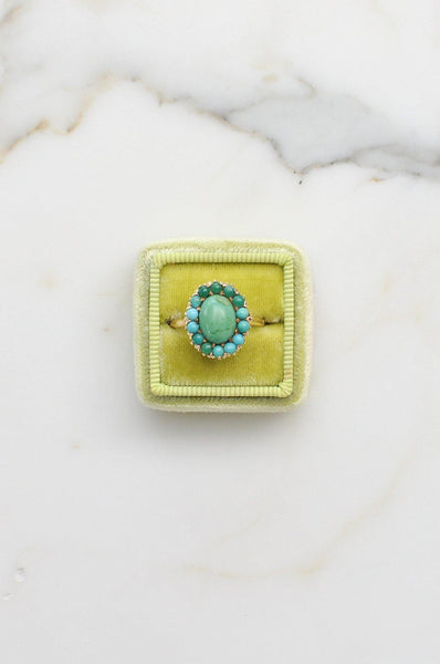 __Gold West Vintage__Turquoise Cocktail Ring