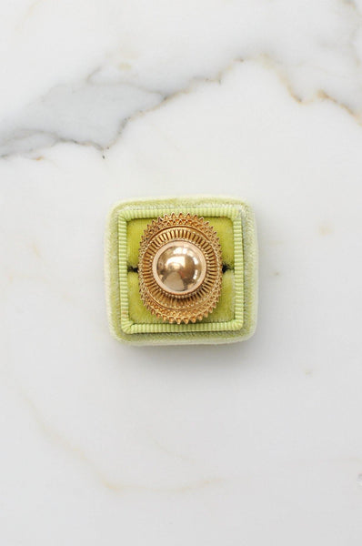 __Gold West Vintage__Gold Dome Ring