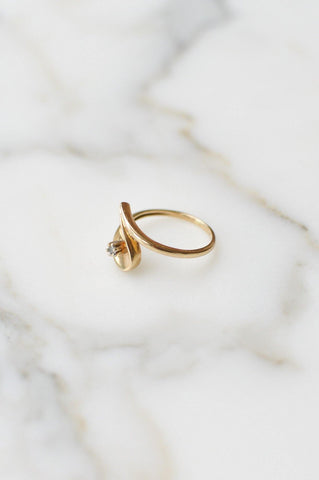 __Gold West Vintage__Simple Diamond Ring