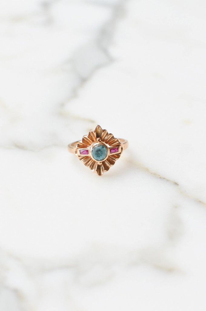 Sapphire & Ruby Cocktail Ring