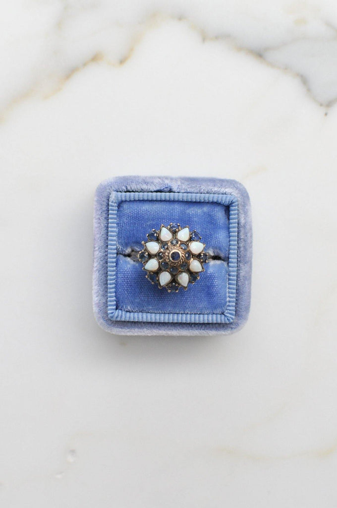 Sapphire Dome Cocktail Ring