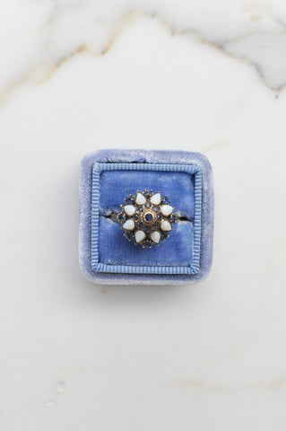__Gold West Vintage__Sapphire Dome Cocktail Ring