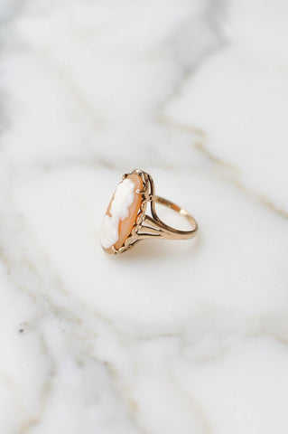 __Gold West Vintage__Cameo Cocktail Ring