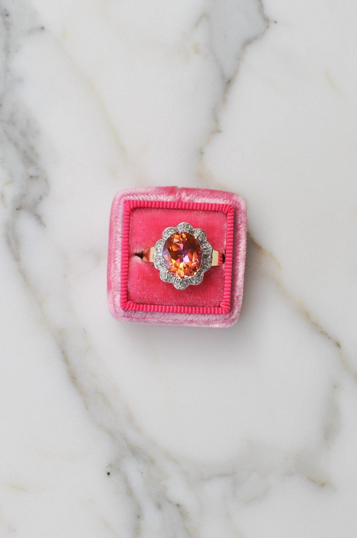 __Gold West Vintage__Pink Topaz Ring