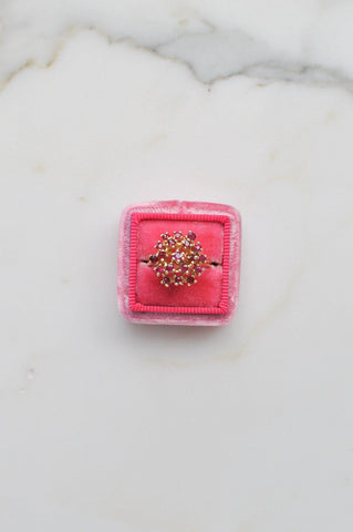 __Gold West Vintage__Pink Sapphire Firework Ring